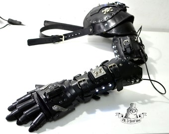 Deadly black skull armor