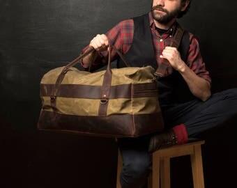 Mens Weekend Bag, Mens Weekend Canvas Bag