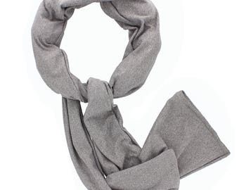 Cooling Scarf - Grey - COOLING BALLS INCLUDED!