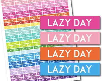 Lazy day stickers, Lazy day planner stickers, Lazy day printable stickers, Lazy day weekly stickers, Lazy day monthly stickers, STI-695