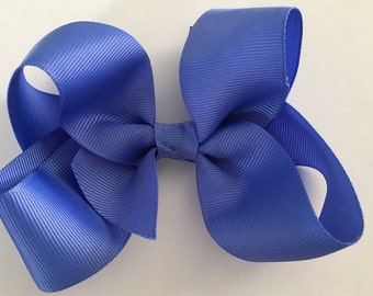 Periwinkle Bow Large Periwinkle Hair Bow, Periwinkle Bow, Jumbo Periwinkle Bow, Purplish-Blue Hair Bow, Periwinkle Bow, Wisteria Bow