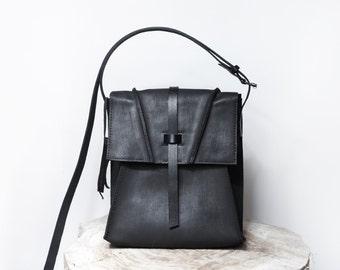 Little leather bag 005N-black