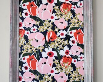 One-of-a-Kind Magnet Board with Floral Background - Perfect for Nursery, Office or Kitchen