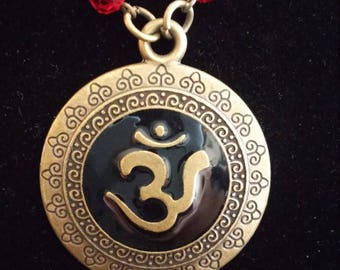 Om Symbol Necklace and Earrings Set