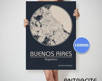 Argentina Map Etsy - Argentina map vintage