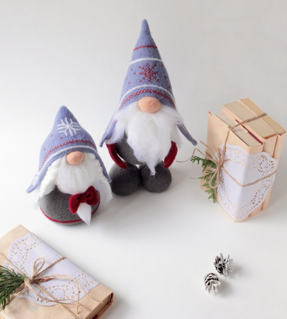 Norwegian gnomes needle felted tomte nisse woolen elf doll for Gnome 3 decoration fenetre
