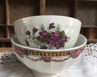 Small bowls Digoin and St Amand