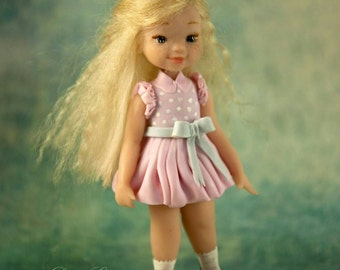 Miniature figurine: Polymer clay dolls, Ooak doll, Miniature art doll,  figures, dolls, wish granted, doll, miniatures, pink, blonde