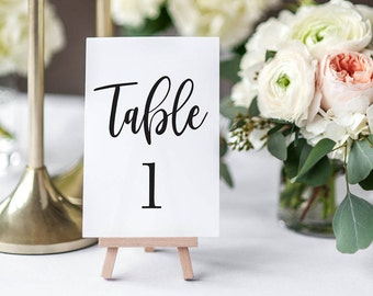 Table Numbers | INSTANT DOWNLOAD |  Wedding Table Numbers | Simple Wedding  | The Zuri Suite