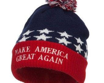 Make America Great Again Embroidered USA Beanie
