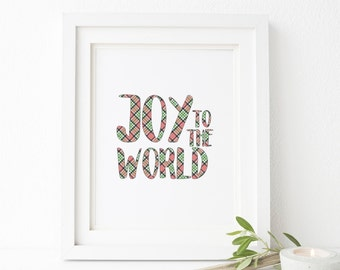 Joy to the World Christmas Printable Wall Art 8x10, 5x7, 11x14, Christmas Decor, Holiday Printable Decor, Christmas Digital Print