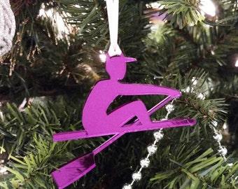 Purple Male Rower