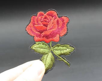Flower Iron On Patch Embroidered patch 6x6.6cm - PH407