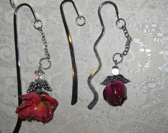 Bookmark, with an Angel or a rose.