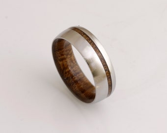 wood wedding band mens wedding ring woman band ring man jewelry titanium ring wood ring