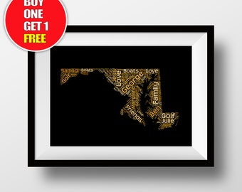 Maryland artwork,  Maryland present, Maryland, Maryland word art