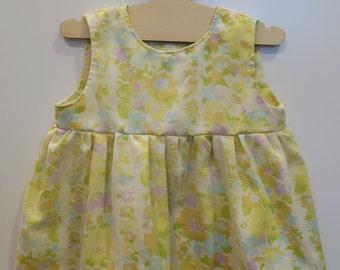 Vintage Floral Pillowcase Dress- Size 12M