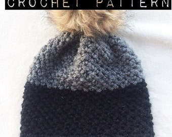 CROCHET PATTERN//The Gore Beanie Crochet Pattern/Hat/Winter Hat