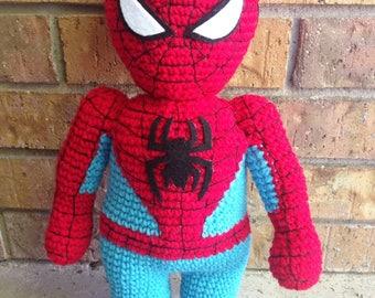 Spider-man inspired Doll, crochet doll, action figure, Spider-man, spider, stuffed toy, Spider-man toy
