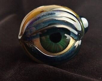 Glass Eye Pipe (Encased Cobalt)