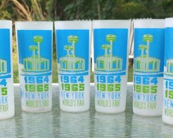 1964-1965 NewYork Worlds Fair glasses/Theme was 'Peace Through Understanding'