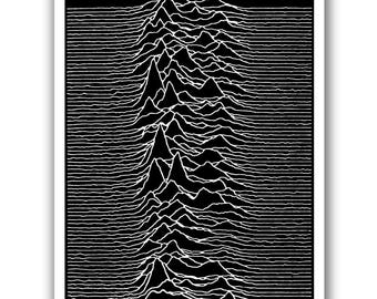 Pulsar CP 1919 - 13x19 Art Poster - Joy Division - Unknown Pleasures