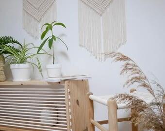 objets de d coration en macram et broderie par louperdigaou. Black Bedroom Furniture Sets. Home Design Ideas