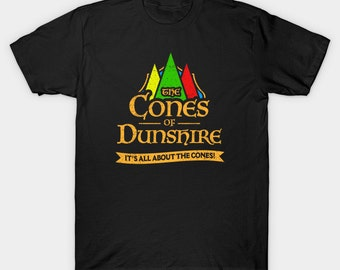 Cones Of Dunshire T-Shirt - Funny Cone Game Ben Wyatt Tee - It's All About The Cones - Mens Womens Unisex Top - XS S M L XL 2XL 3XL