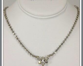 Vintage Rhinestone Necklace, Vintage Eisenberg Ice Necklace, Retro Eisenberg Necklace, Retro Eisenberg Ice Necklace, Rhinestone Necklace