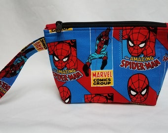 Spiderman Quilted Wristlet