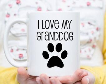 I Love My Grand Dog, Dog Grandma Gift, Dog Grandpa Gift, Dog Lover Gift, Gift for Grandma, Gift for Grandpa, Gift for Grandparents, Dog Mugs