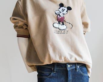 Mickey Mouse Sweatshirt | Cartoon Sweatshirt | Mickey Crewneck | Mickey Mouse Top | Vintage Disney Sweater | Mickey Mouse Sweater |