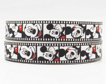 """1"""" Mickey Mouse Grosgrain Ribbon by the Yard   S46"""