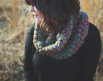 SALE | RTS | Puff Stitch Cowl | The Callie | Fiesta | Bulky Crochet Scarf | Neckwarmer | Knitwear
