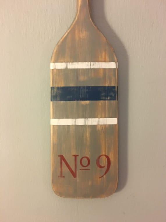 Wood Paddle Wall Decor : Wood paddle oar wall decor
