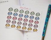 Sleeping Mask Multicolor Planner Stickers | Stationery for Erin Condren, Filofax, Kikki K and scrapbooking
