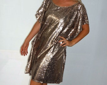 "Hand made one only ""Champagne Bubbles"" Kaftan dress"