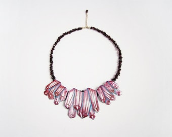 Statement necklace rubies