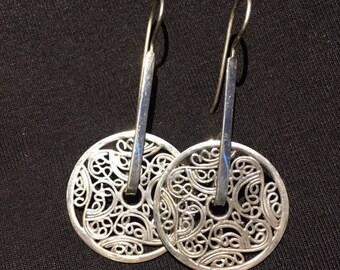 Sterling Silver wheel earrings