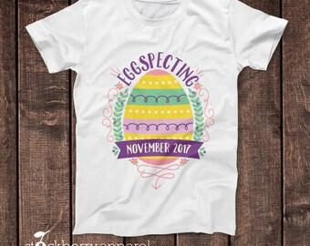 Easter Maternity Shirt - Eggspecting Shirt - Easter Pregnancy Announcement - Easter Pregnancy Shirt - Easter Pregnancy Reveal - Spring Baby
