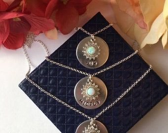 Set of (2) or (3) Sister Necklace. Little Sister Middle Sister Big Sister Necklace.