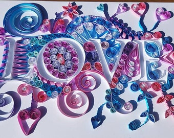 Quilled Paper Art 'Love'