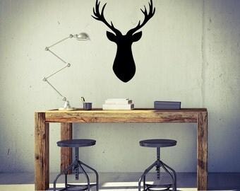 Deer Antlers Decal - Deer Decor / Deer Decal / Deer Antler / Taxidermy