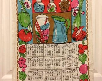 1973 Calendar Towel