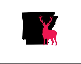 arkansas deer included svg dxf jpeg png file stencil monogram frame silhouette cameo cricut clip art commercial use