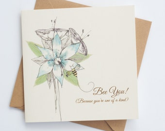 """Bee You """"Bee-Attitudes"""" by Love Bee Card   Friendship   Encouragement   Just Because Card"""