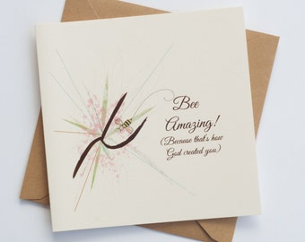 """Bee Amazing """"Bee-Attitudes"""" by Love Bee Card   Friendship   Encouragement   Just Because Card"""