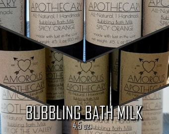 Amorous Apothecary Bubbling Bath Milk | Handmade 4.5 oz Lily of the Valley/Coco Chanel/Essential Oil Scented Luxury Adult Bubble Bath