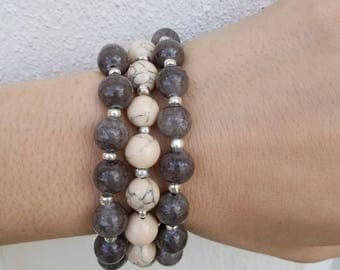 Handmade Beaded Bracelet Stack