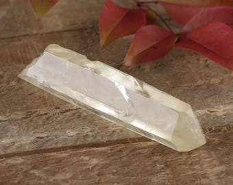 One Raw CITRINE Crystal Point - Wire Wrap Citrine Necklace, Citrine Pendant, Healing Crystal, Citrine Point, Citrine Jewelry Making E0098